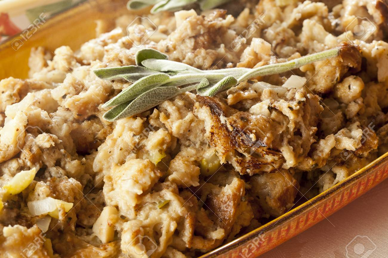 Homemade Stuffing made for Thanksgiving ready for the holidays Stock Photo - 16543586