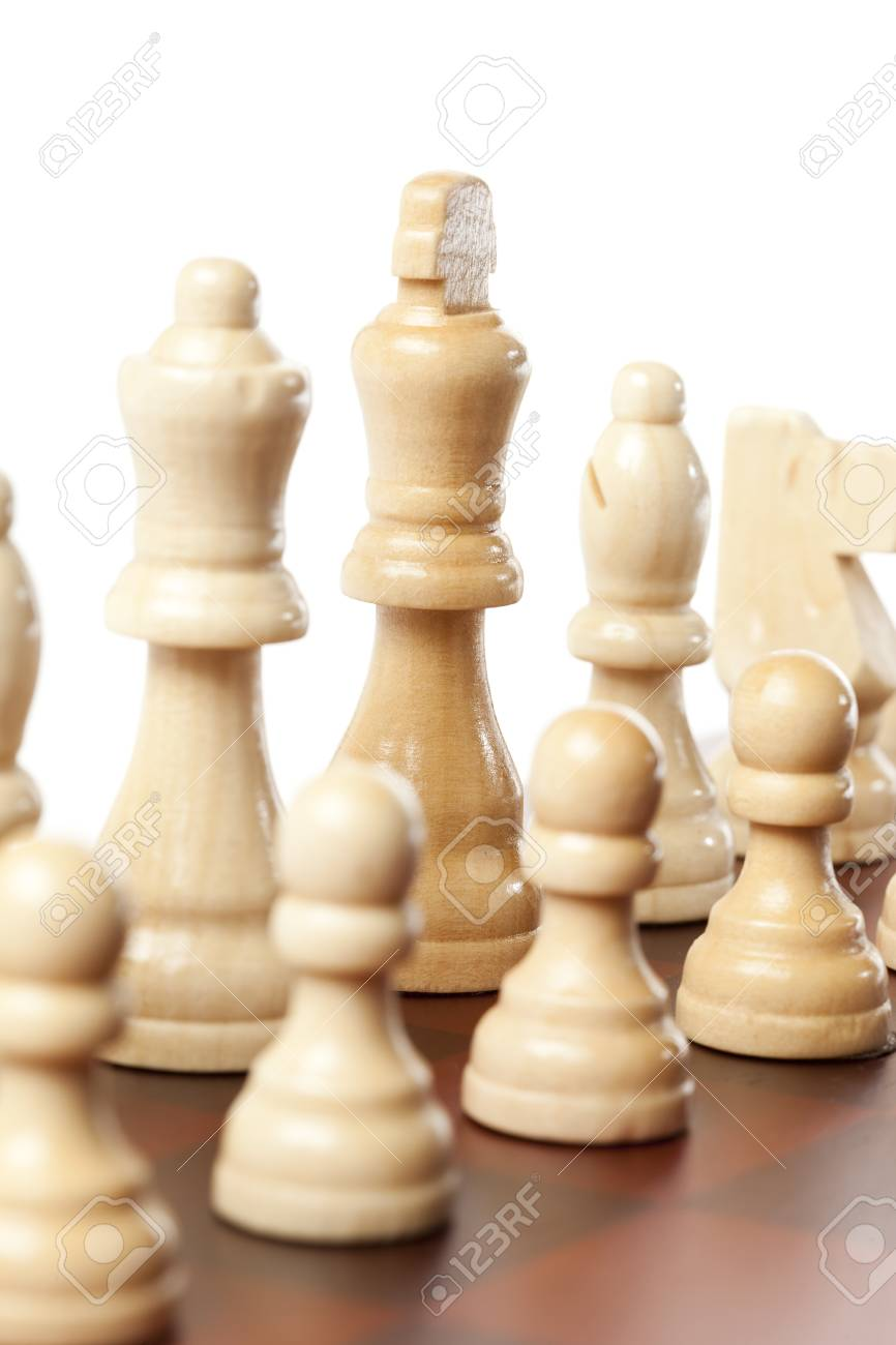 Classic Wooden Chessboard with Cheese Pieces against a background Stock Photo - 17168801