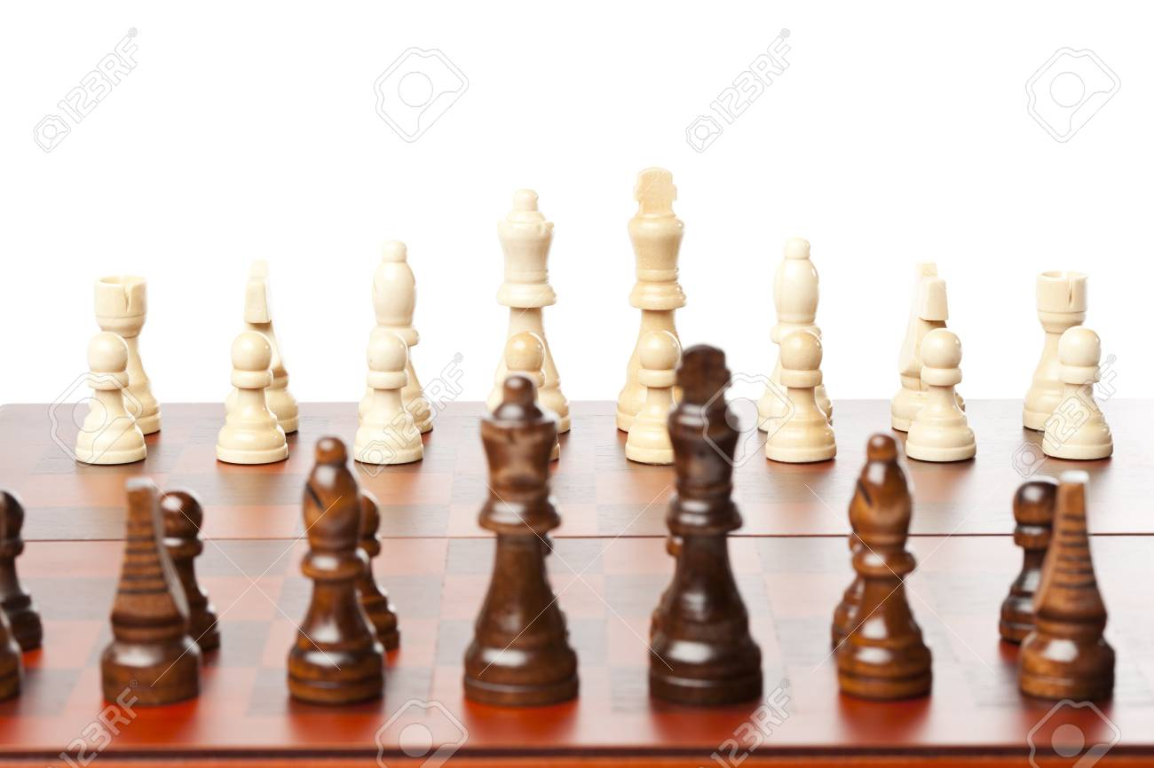 Classic Wooden Chessboard with Cheese Pieces against a background Stock Photo - 17168732