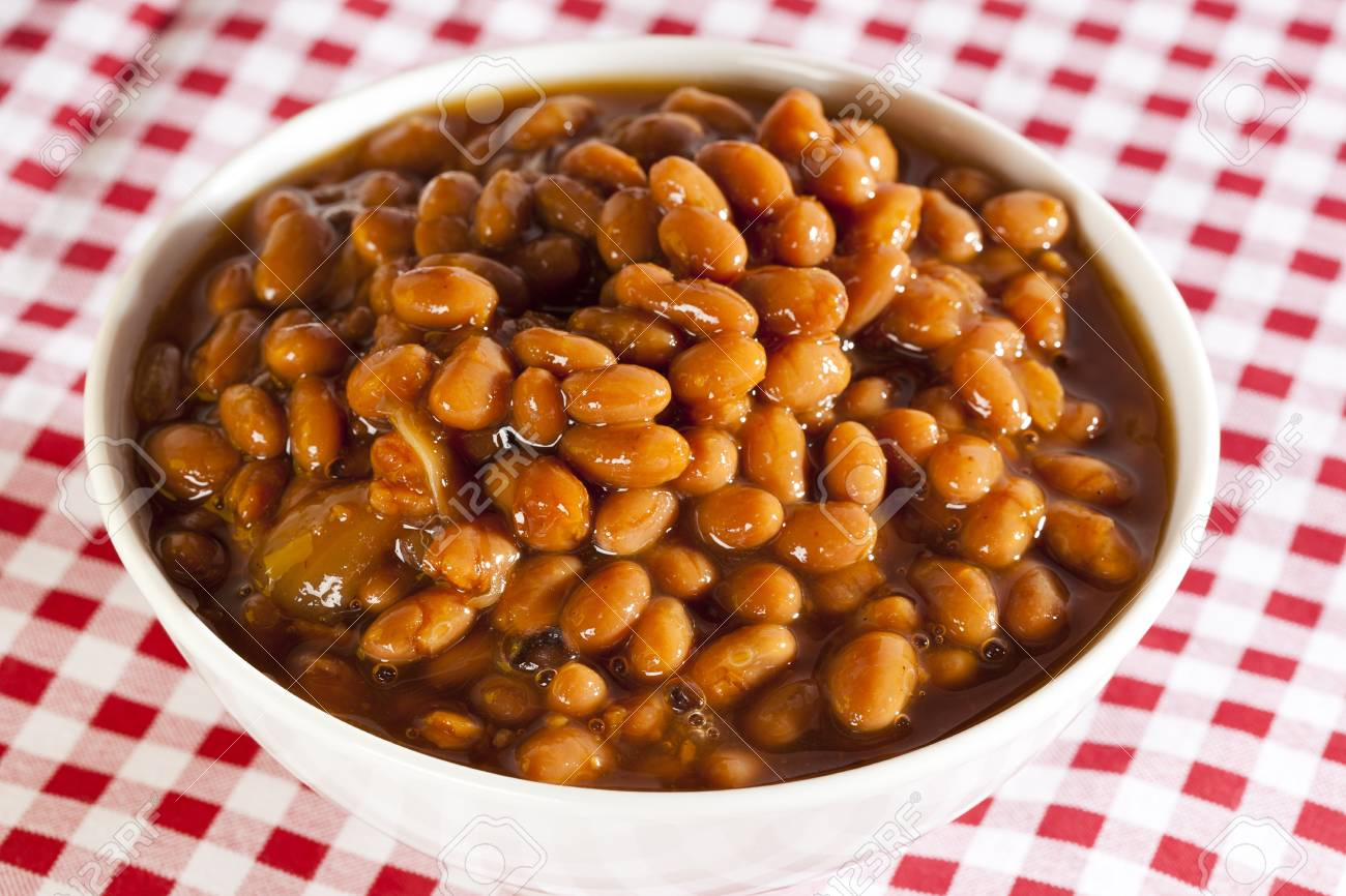 Fresh Homemade BBQ Baked Beans on a background Stock Photo - 17171583