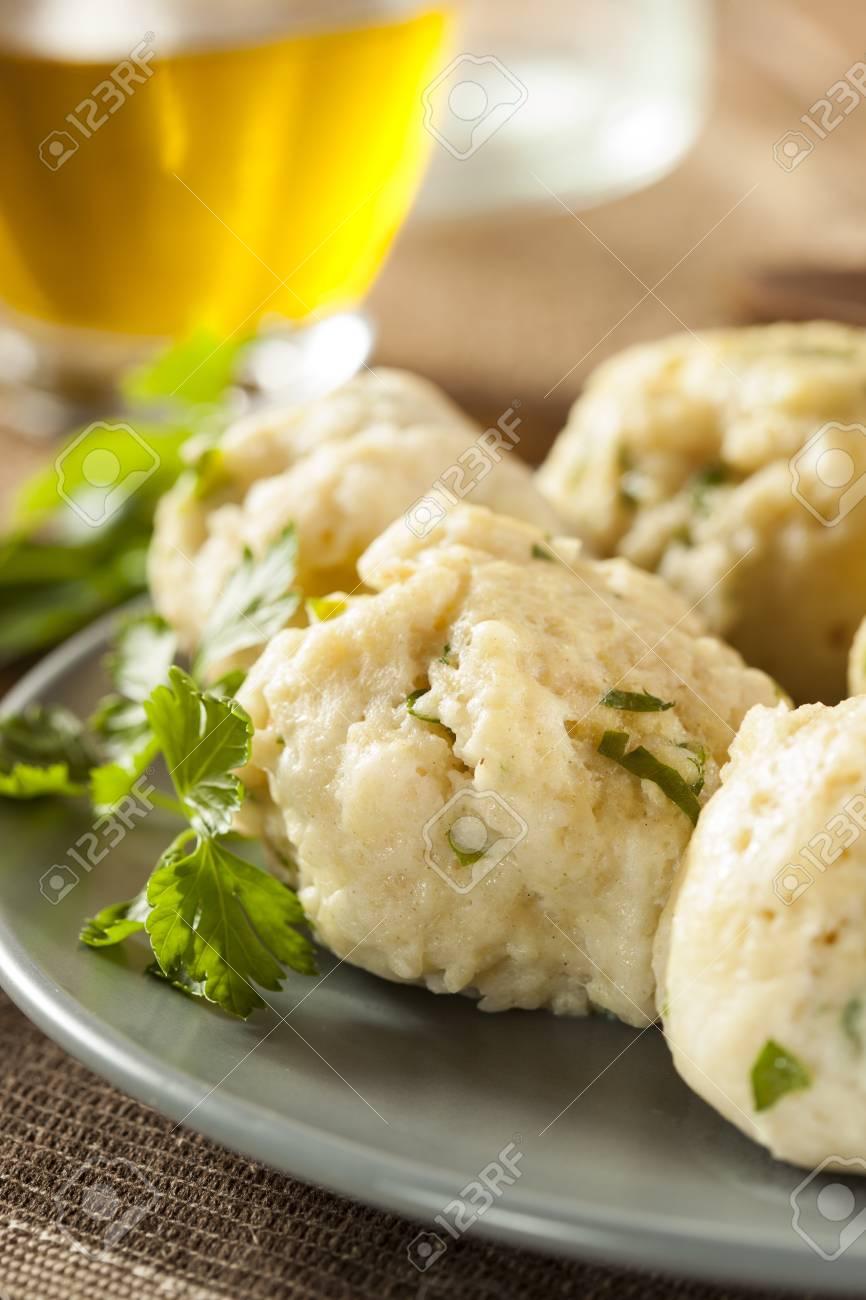 Homemade Matzo Ball Dumplings with Parsley for passover Stock Photo - 20086111