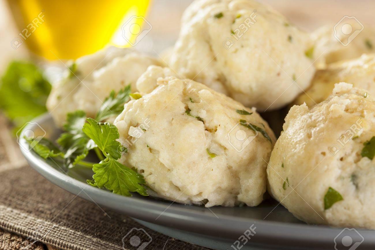 Homemade Matzo Ball Dumplings with Parsley for passover Stock Photo - 20086117
