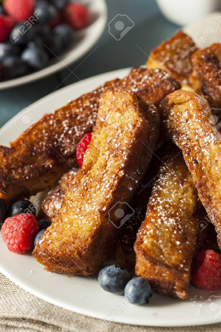 Homemade French Toast Sticks with Maple Syrup Stock Photo - 30972719