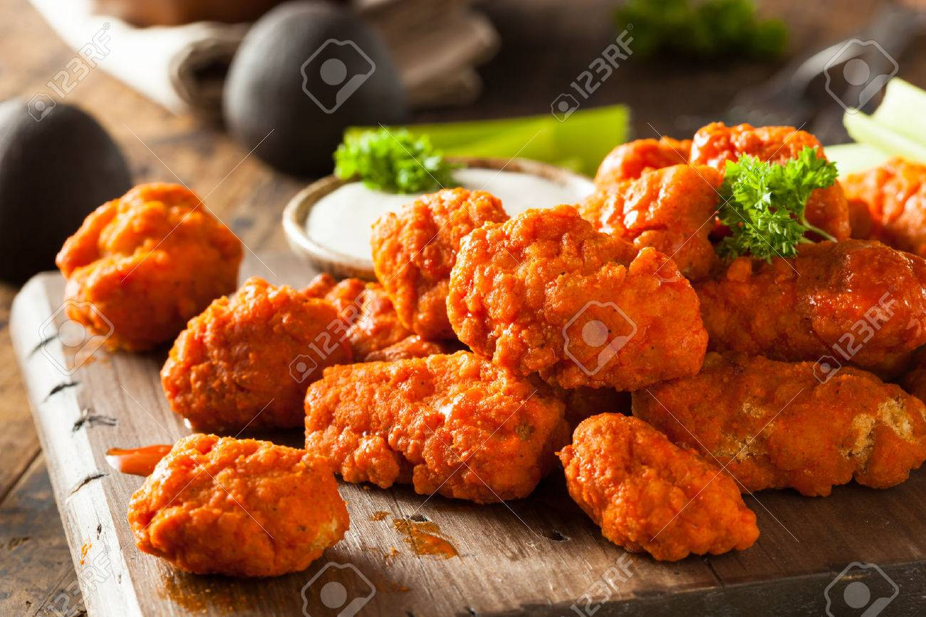 Breaded Chicken Hot And Spicy Boneless Buffalo Chicken Wings With Ranch