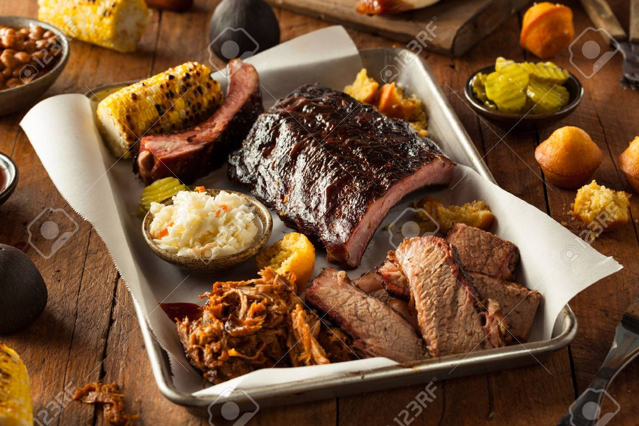 Barbecue Smoked Brisket And Ribs Platter With Pulled Pork And Stock Photo Picture And Royalty Free Image Image 41012240
