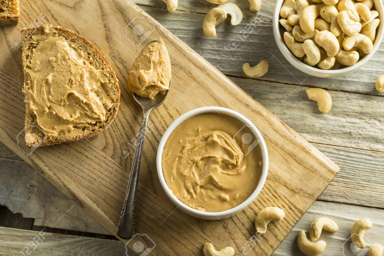 Beurre De Cacahu A La Noix De Cajou Maison Pret A Manger Banque D