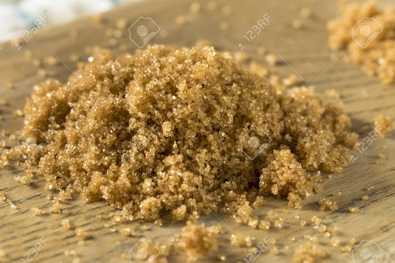 Raw Organic Light Brown Sugar In A Pile Stock Photo   96350354