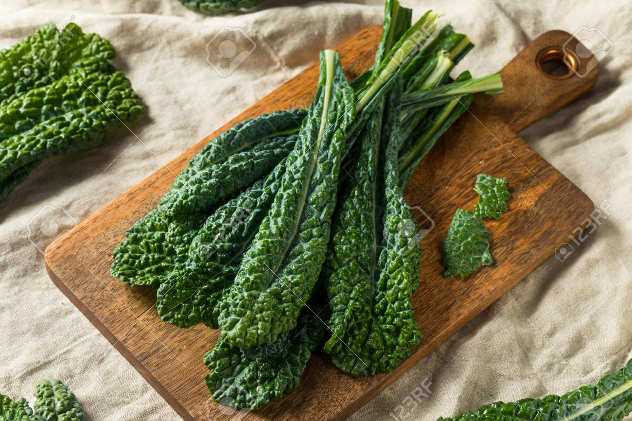 Healthy Organic Green Lacinato Kale Ready to Cook - 120079312
