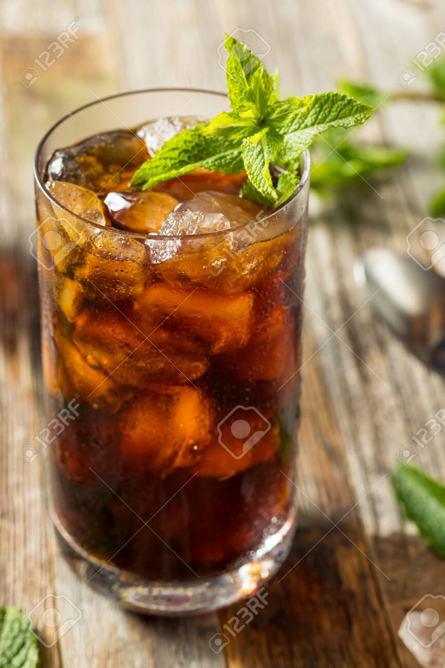 Homemade Sweet Mint Iced Coffee in a Glass - 126792926