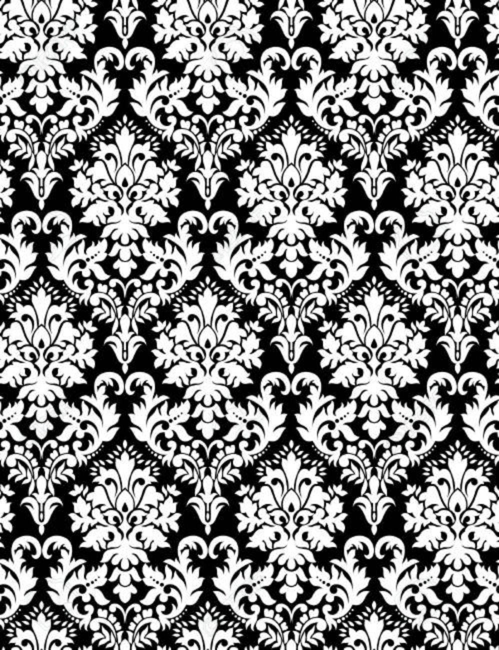 Seamless Paisley Wallpaper In Black Background Stock Vector