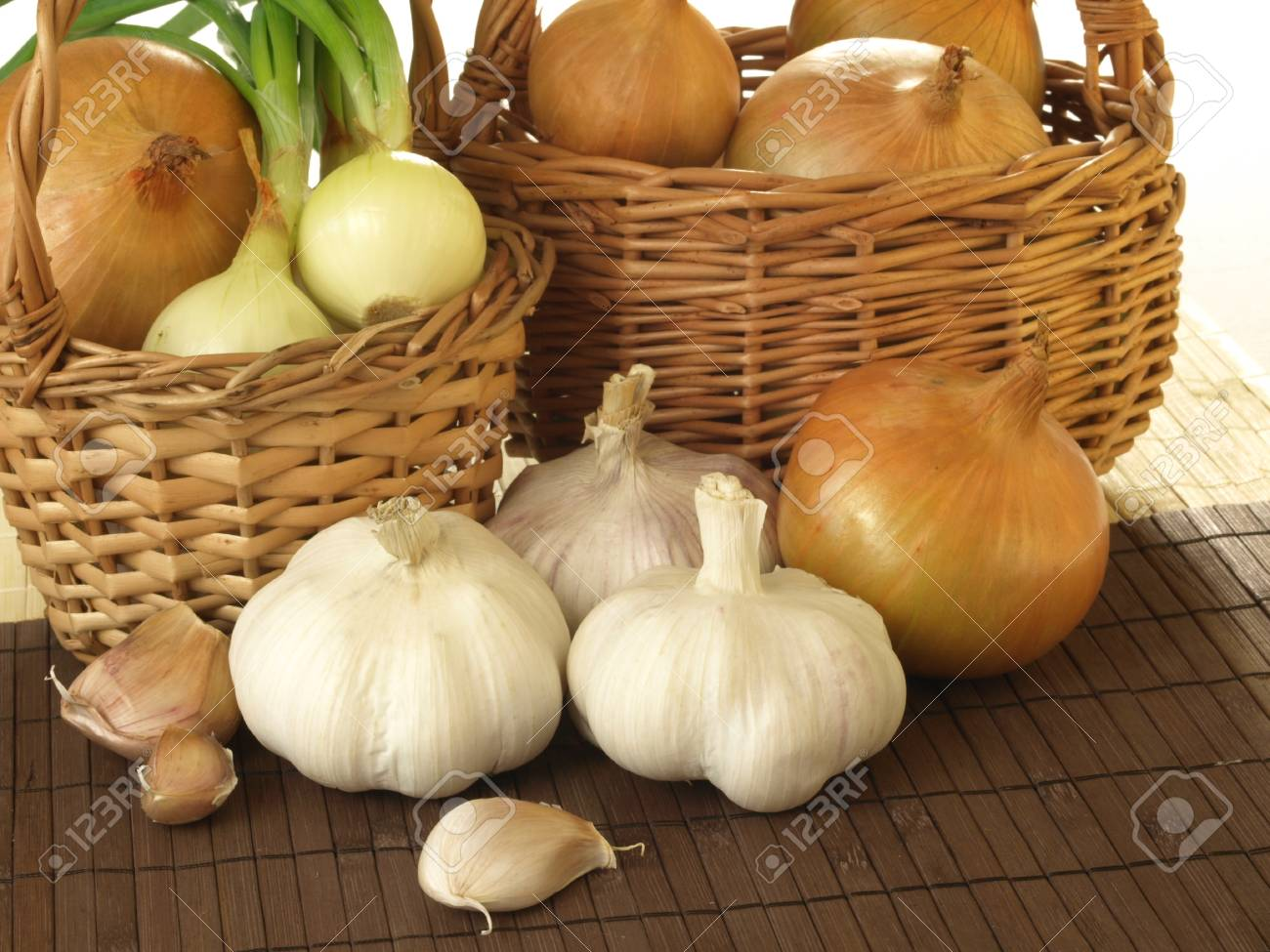 Two baskets filled with healthy vegetables Stock Photo - 13184817