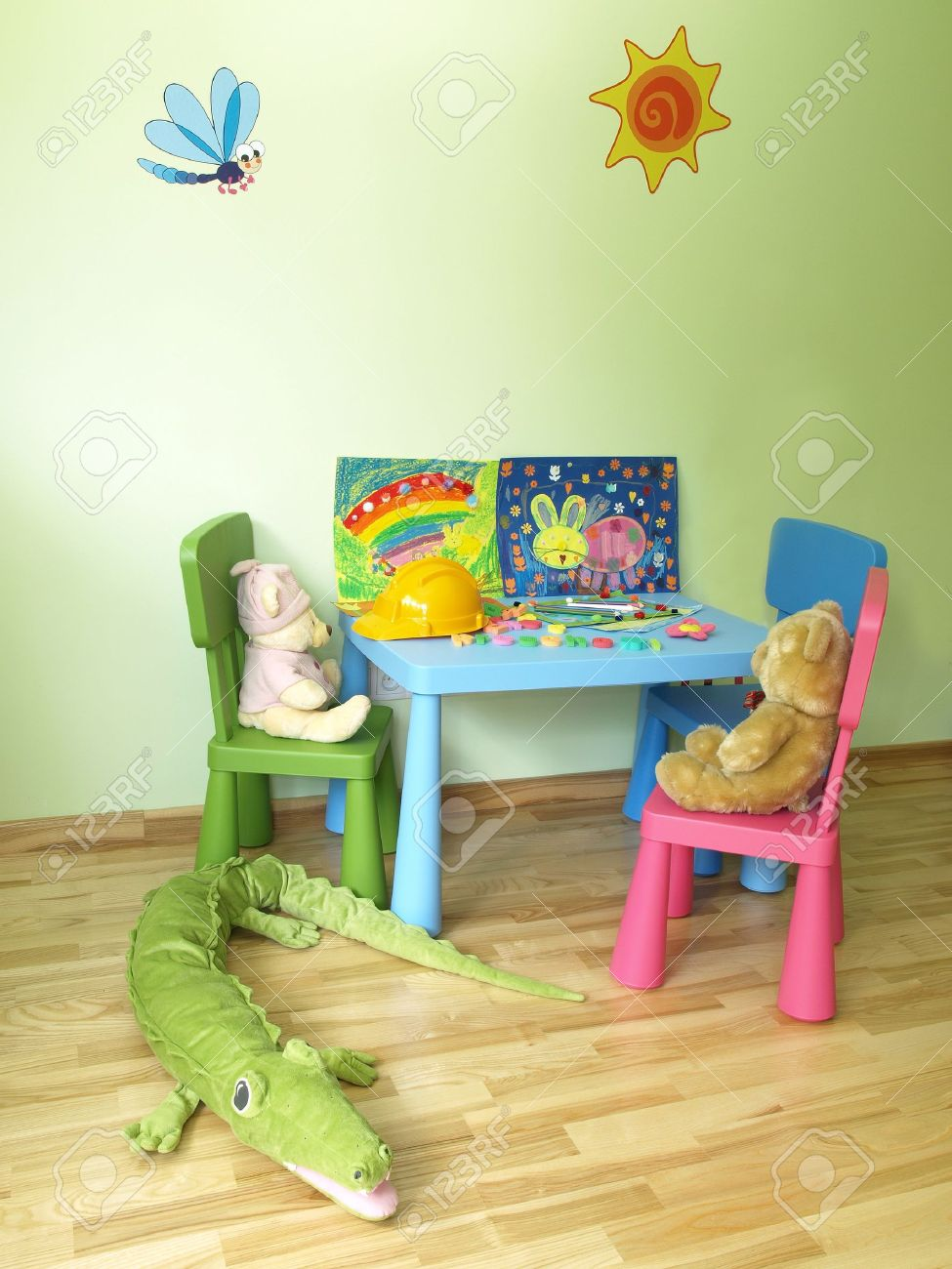 Modern child's room with equipment and toys Stock Photo - 14608643