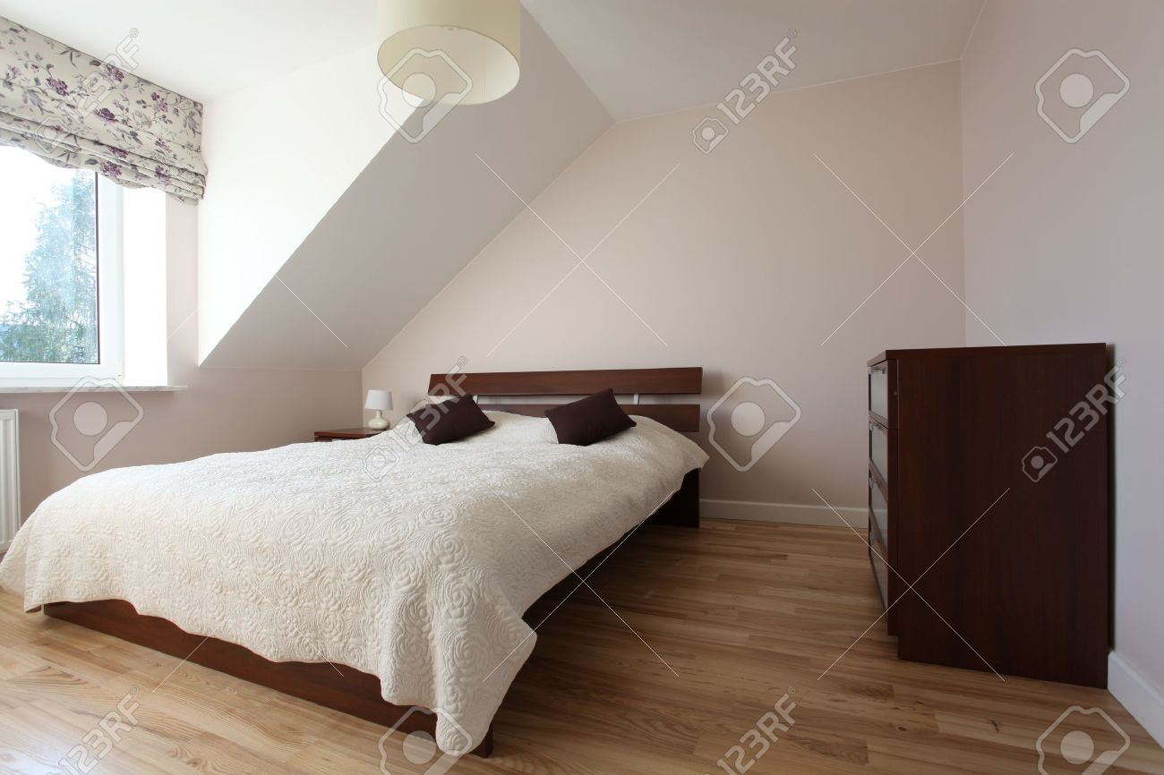 Modern House Bedroom Elegant And Cosy Bedroom In Modern House Stock Photo Picture And