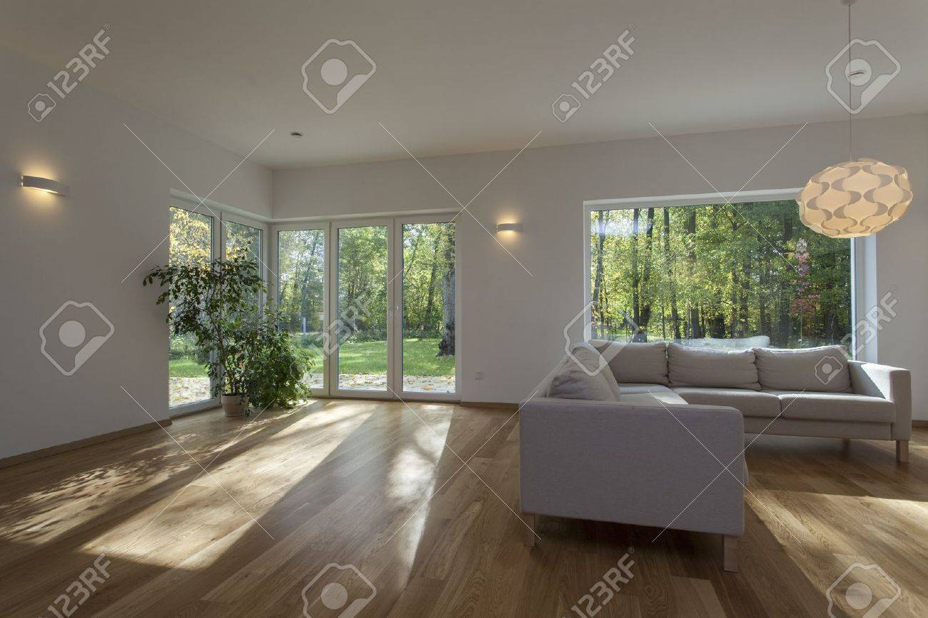 Spacious and contemporary living room, new house Stock Photo - 16164883
