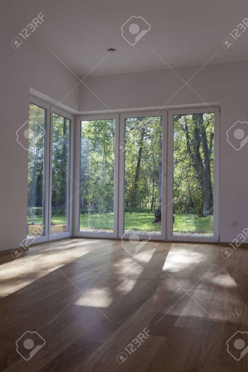 Windows and door with overlooking to garden Stock Photo - 16164876