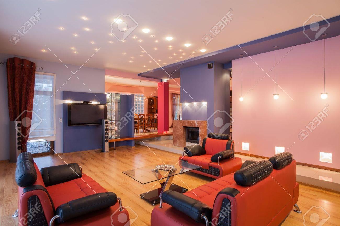 Amaranth house - Interior of original living room Stock Photo - 17700707
