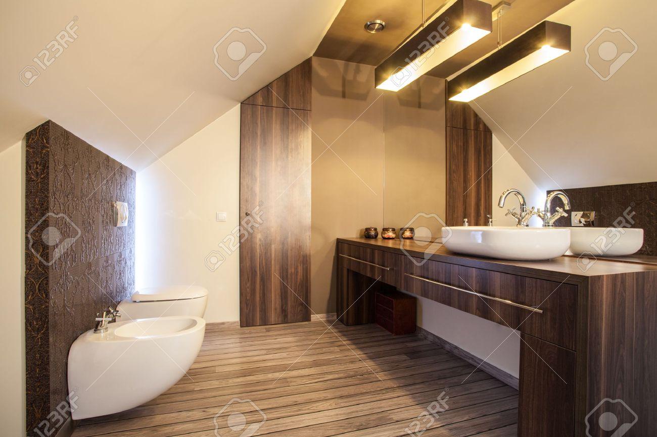 finca - holz-arbeitsplatte in einem modernen badezimmer, Wohnzimmer dekoo