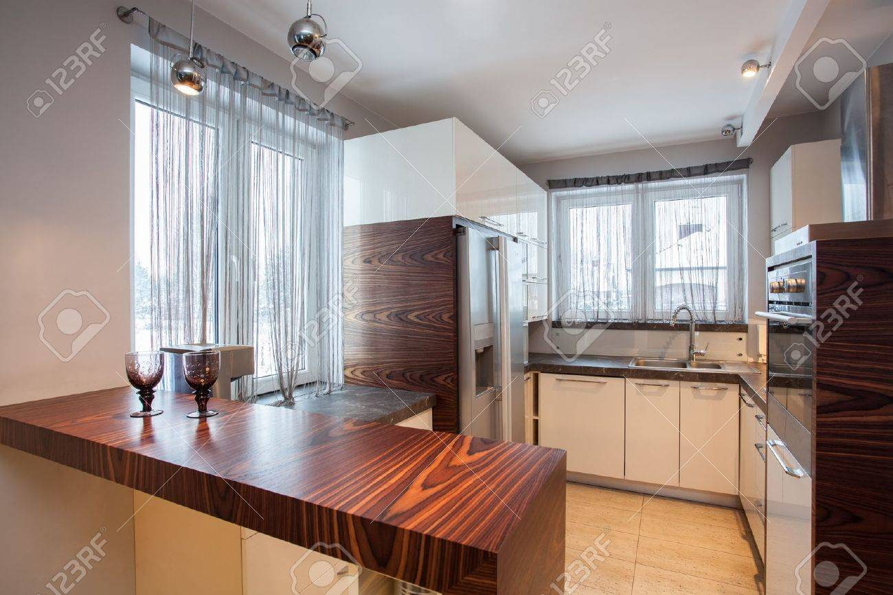 country home interior of wooden brown kitchen stock photo country home interior of wooden brown kitchen stock photo 17861568