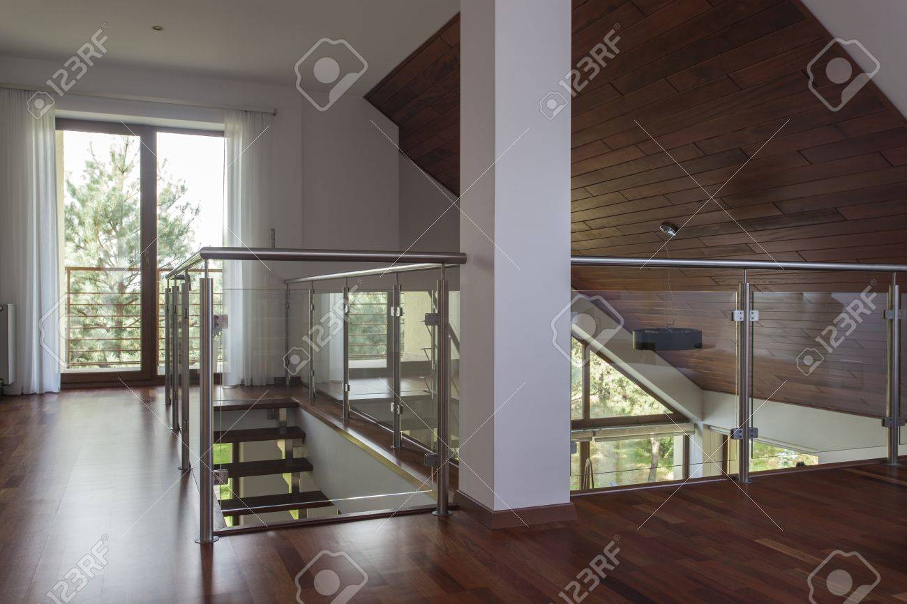 Attic of the new, stylish and contemporary house Stock Photo - 18334012