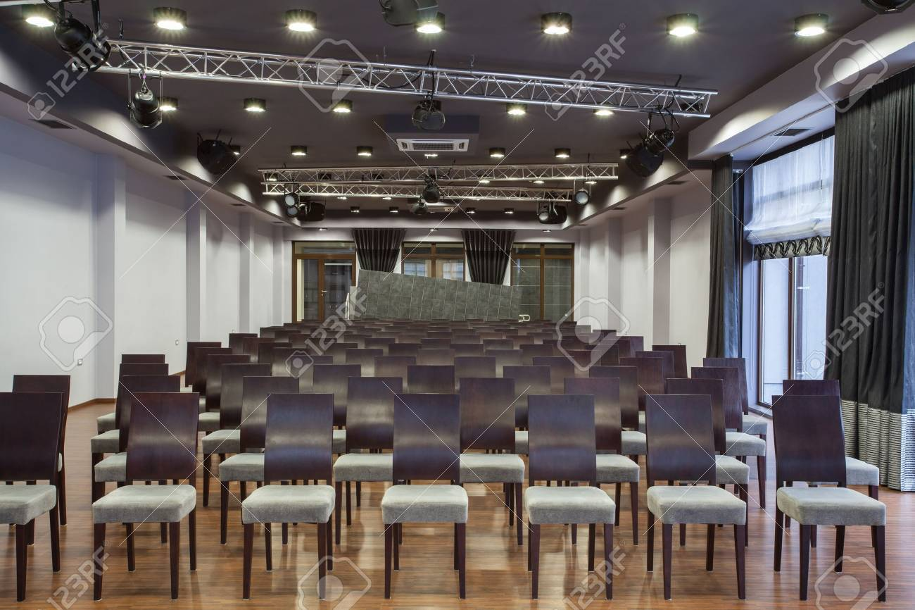 Woodland hotel - interior of a conference hall Stock Photo - 18505298