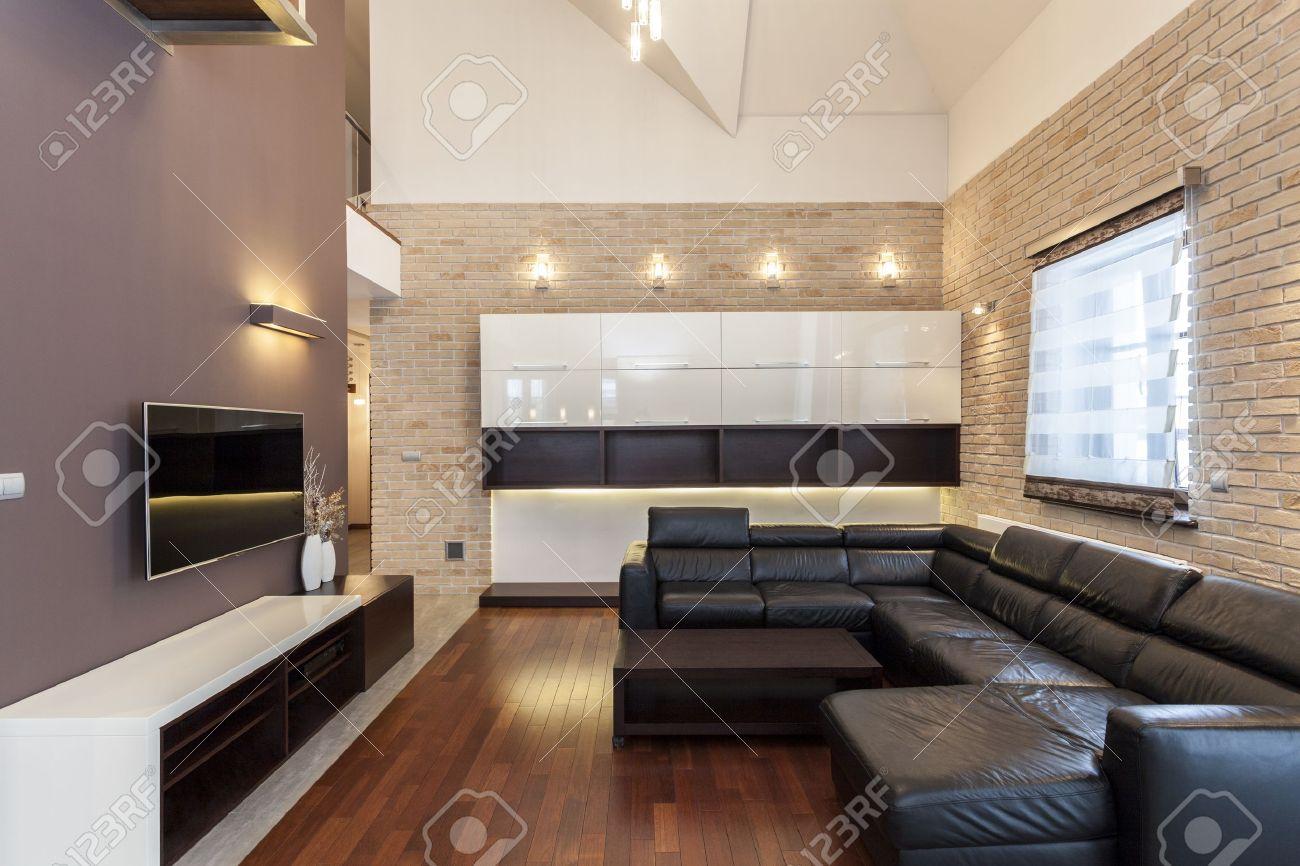 Grand Dessein Interieur D Une Maison Moderne Et Minimaliste Banque