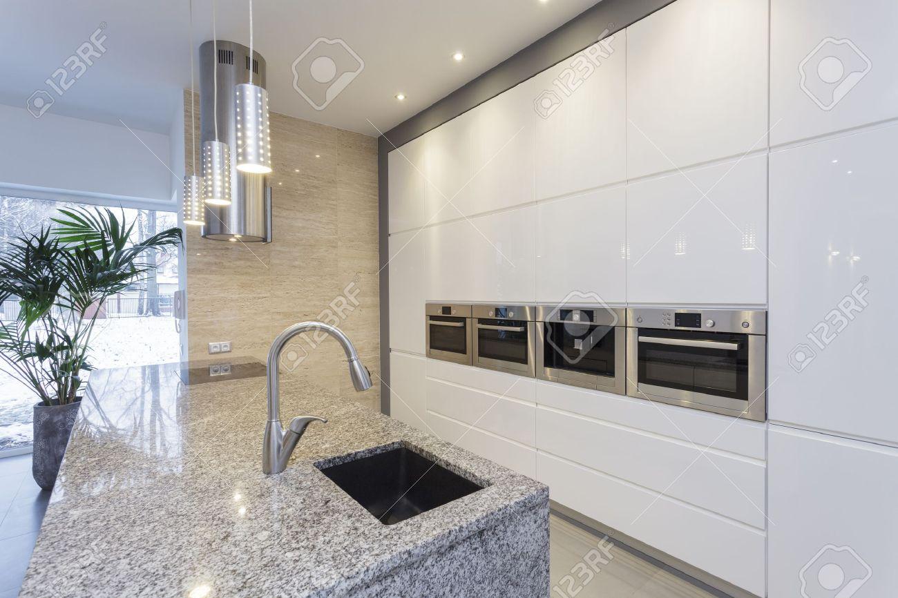 Designers Interior   Interior Of Modern Minimalist Kitchen Stock Photo    18686974 Part 73
