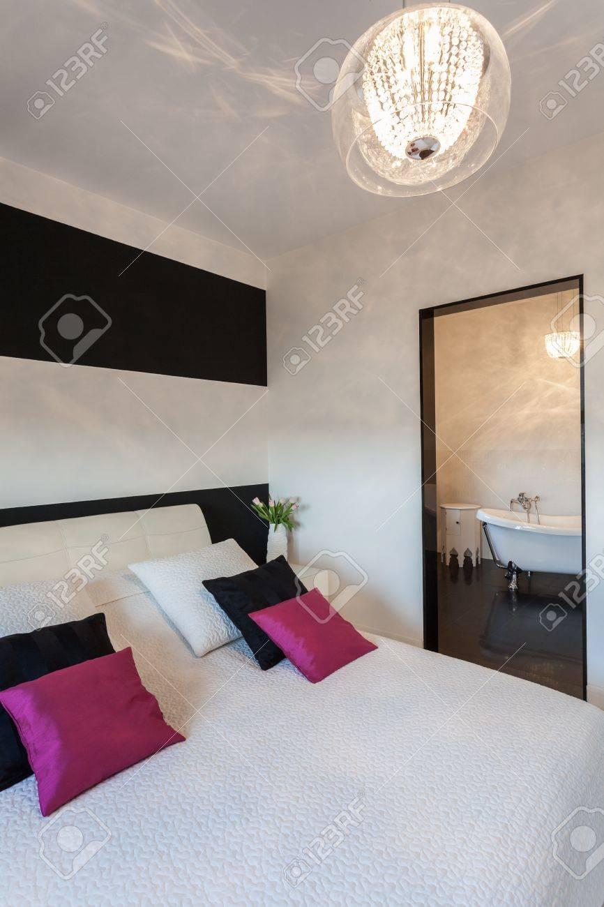 Vibrant chalet - Chambre à coucher moderne et une salle de bains