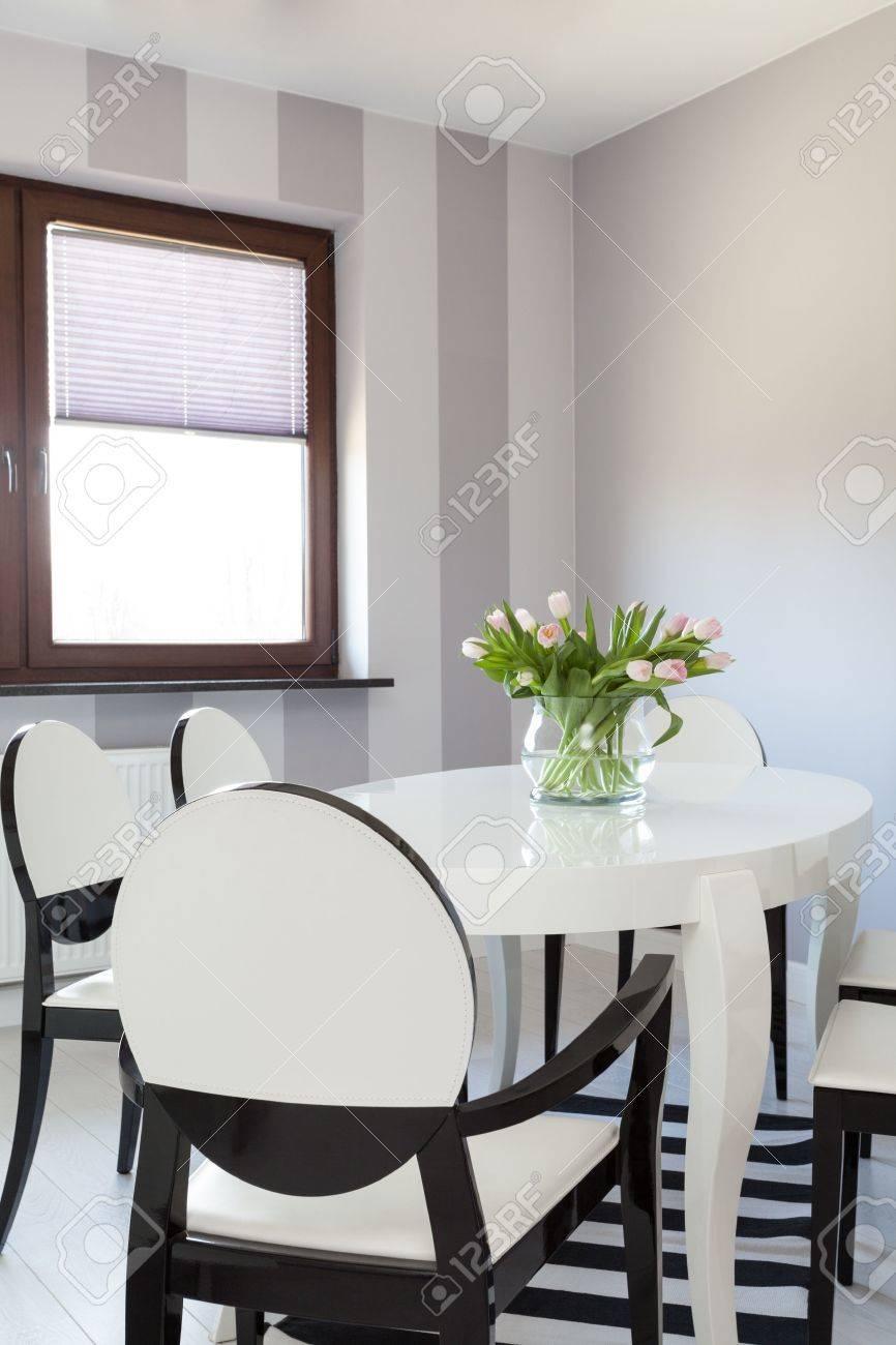 Vibrant cottage - Closeup of modern white table Stock Photo - 18732436