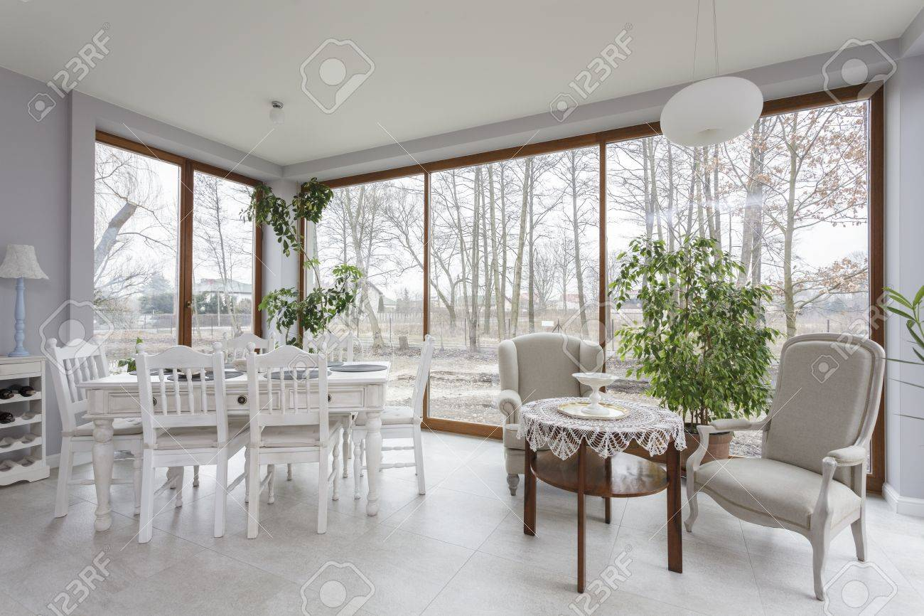 Tuscany - bright furniture in dining room Stock Photo - 18918230