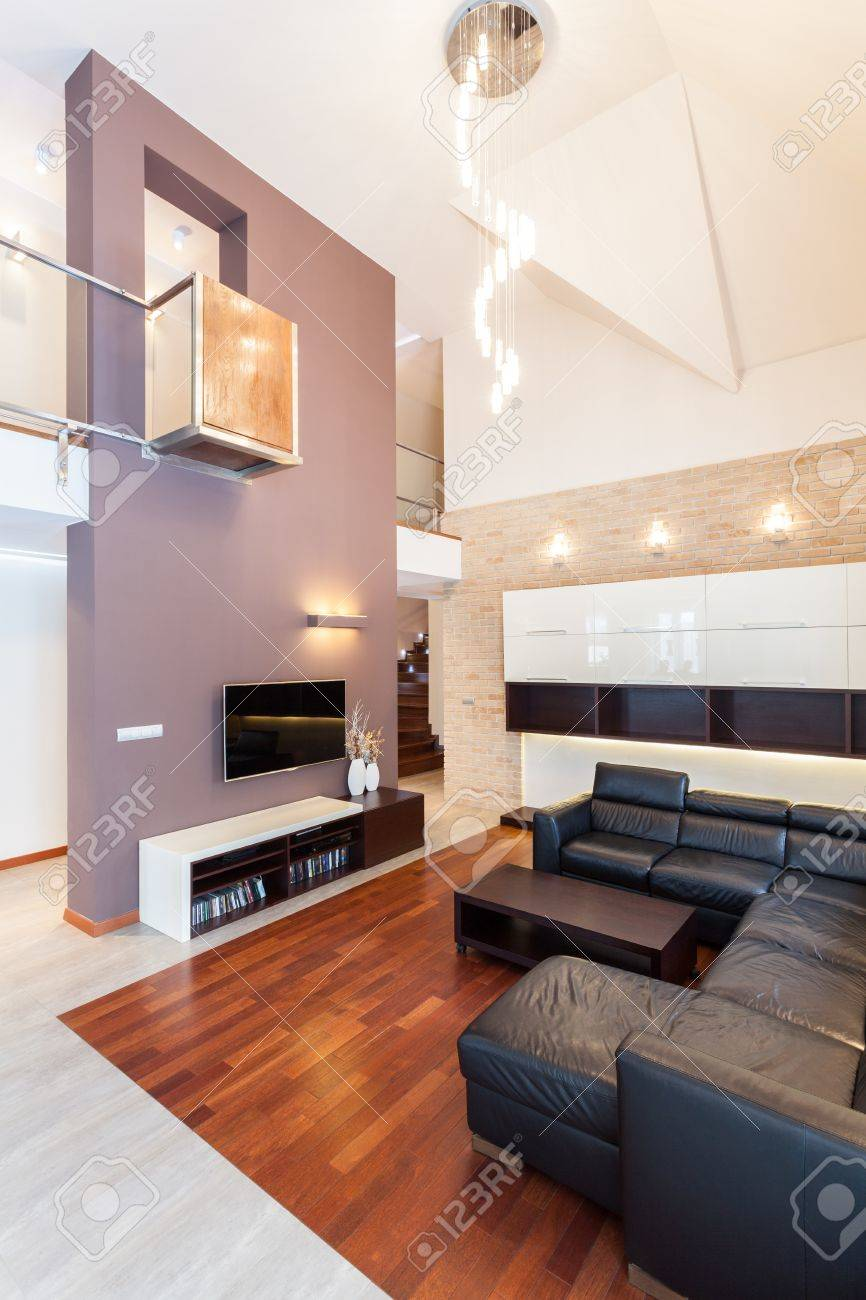 Grand design - Living room with balcony Stock Photo - 19376561