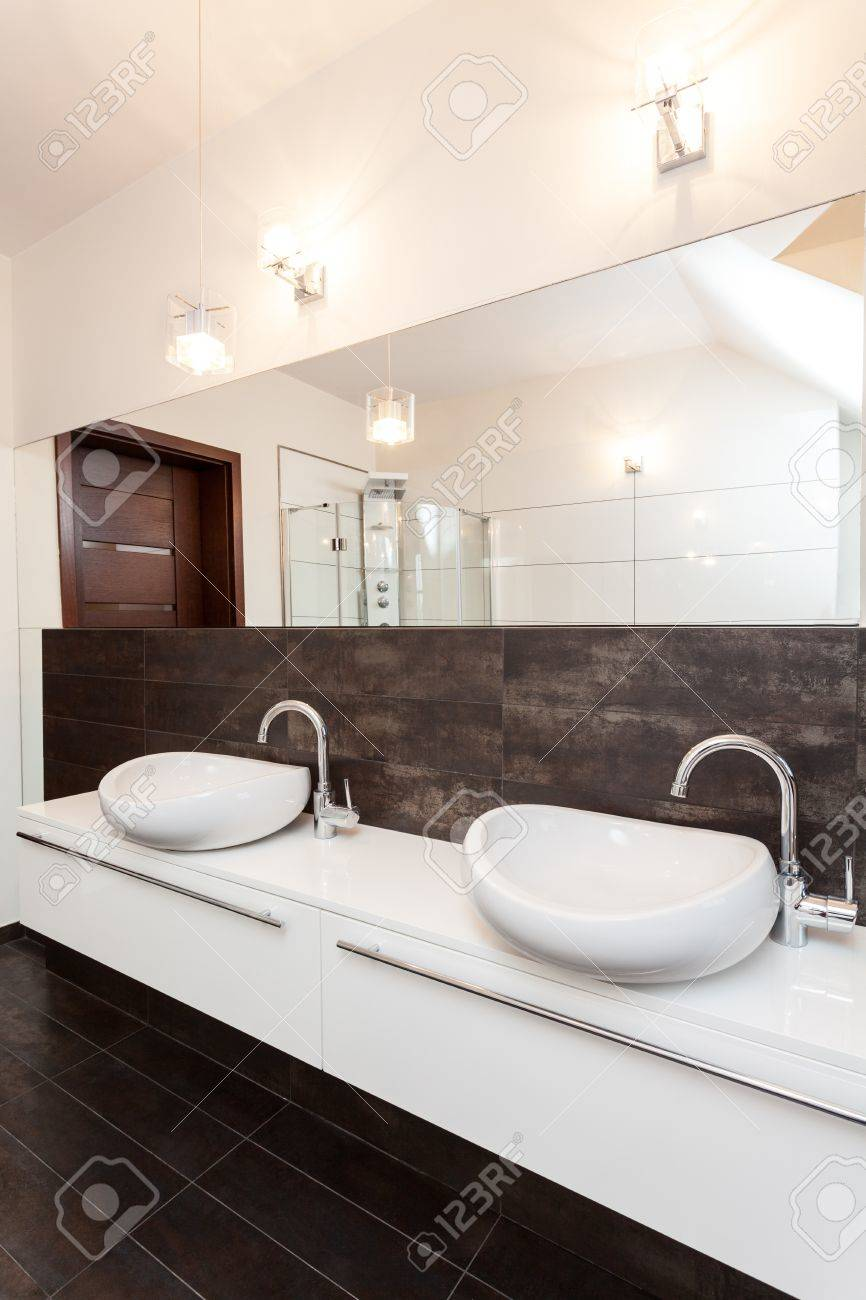 Grand Design - Two Vessel Sink In Bathroom Stock Photo, Picture And ...