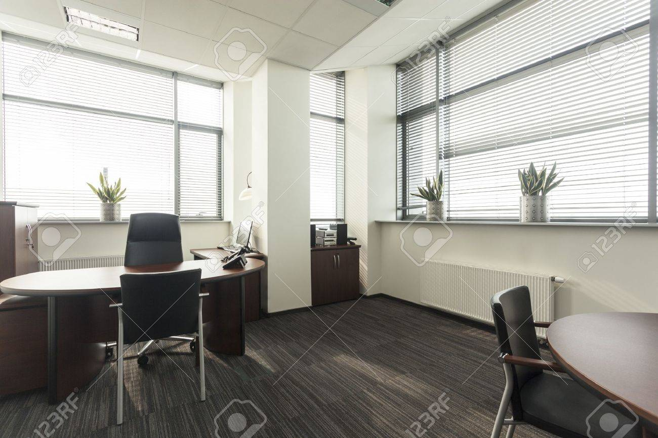 Interior of a new contemporary office, table Stock Photo - 19505320
