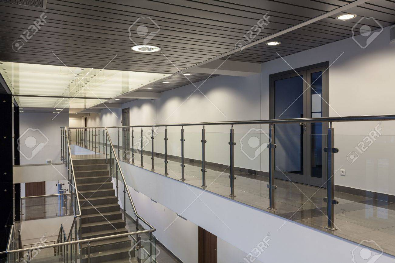 Interior of a modern building with an office Stock Photo - 19632507