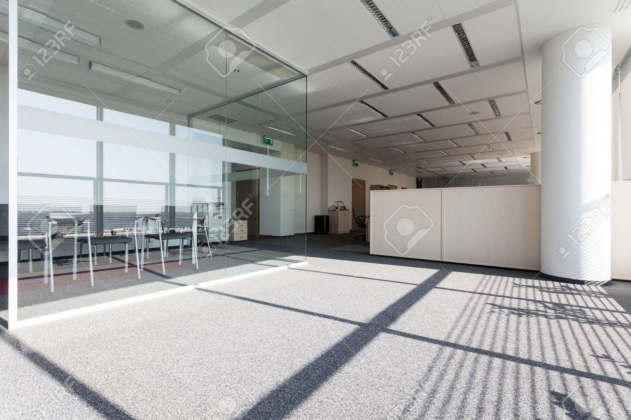 New modern business centre with a glass room Stock Photo - 19688876