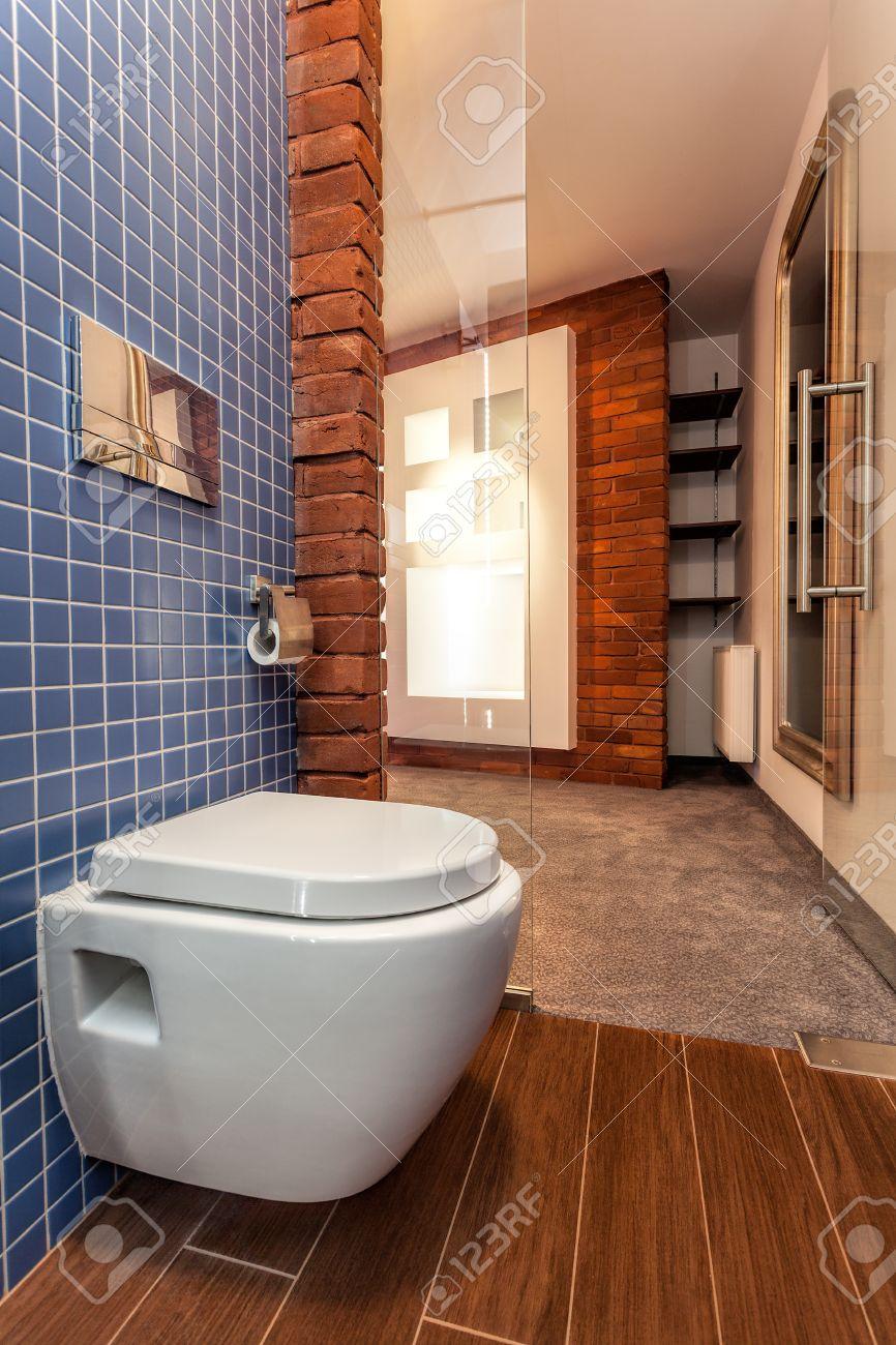 WC-Sitz In Kleinen Gemütlichen Badezimmer Lizenzfreie Fotos, Bilder ...