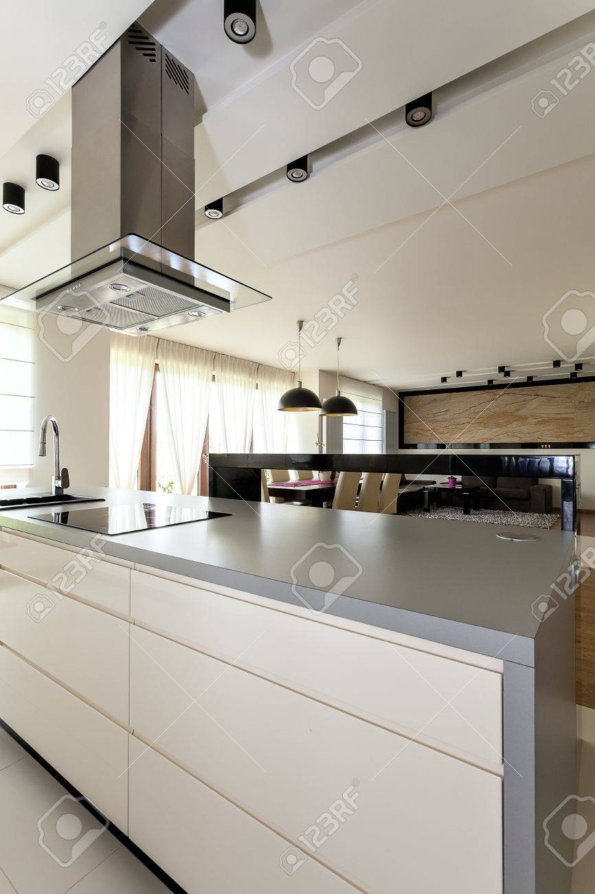 Urban apartment - closeup of a modern counter with drawers Stock Photo - 21821962