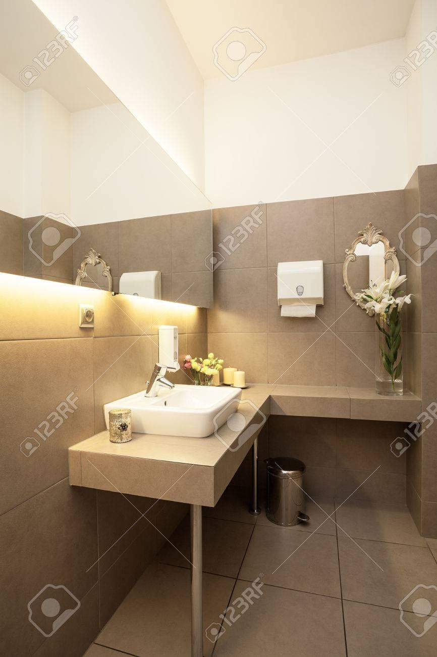 Toilette Blanc Et Gris luxe intérieur des toilettes de gris, évier de navire blanc