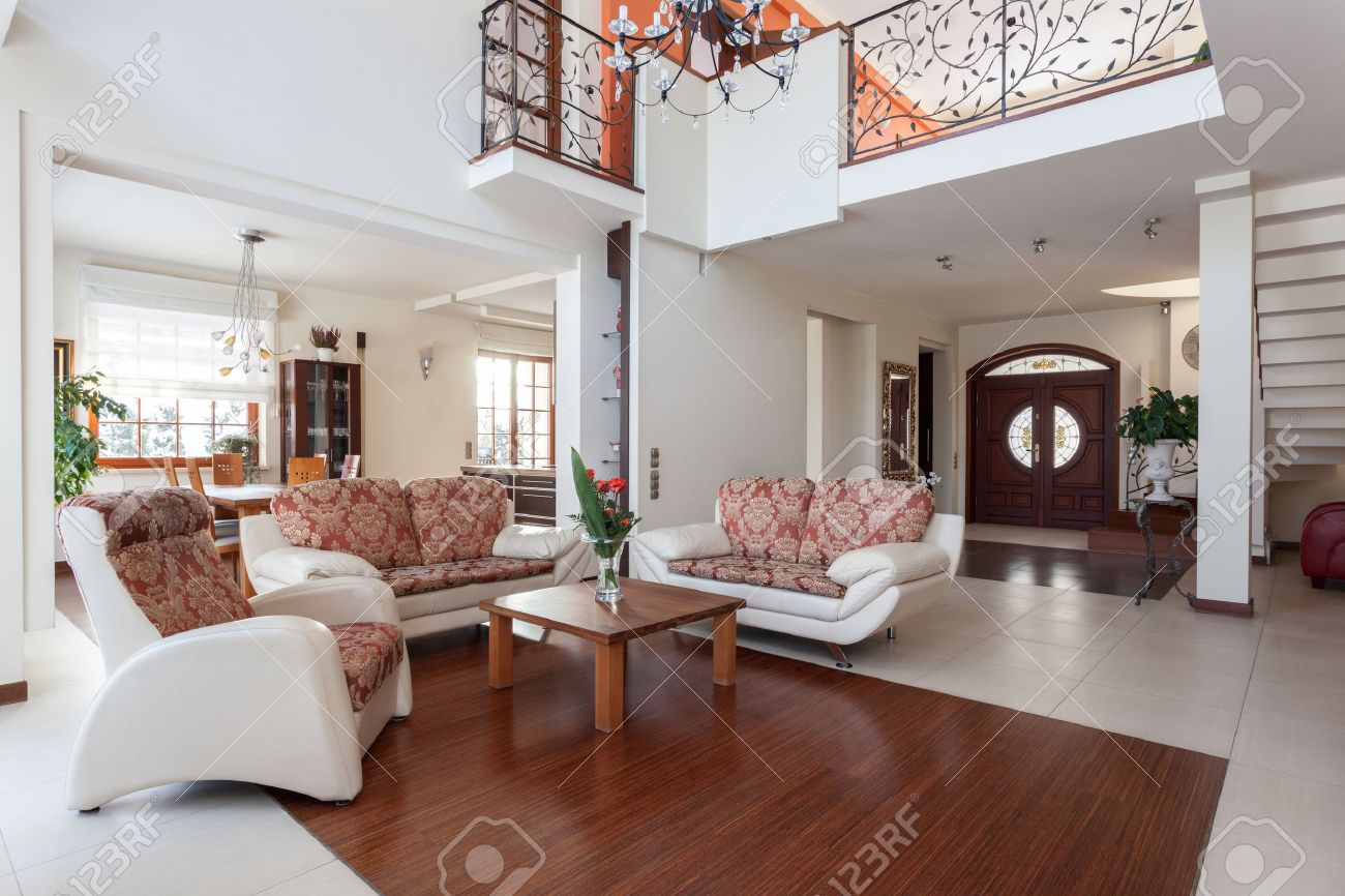 Classy House - Original And Classical Home Interior Stock Photo ...