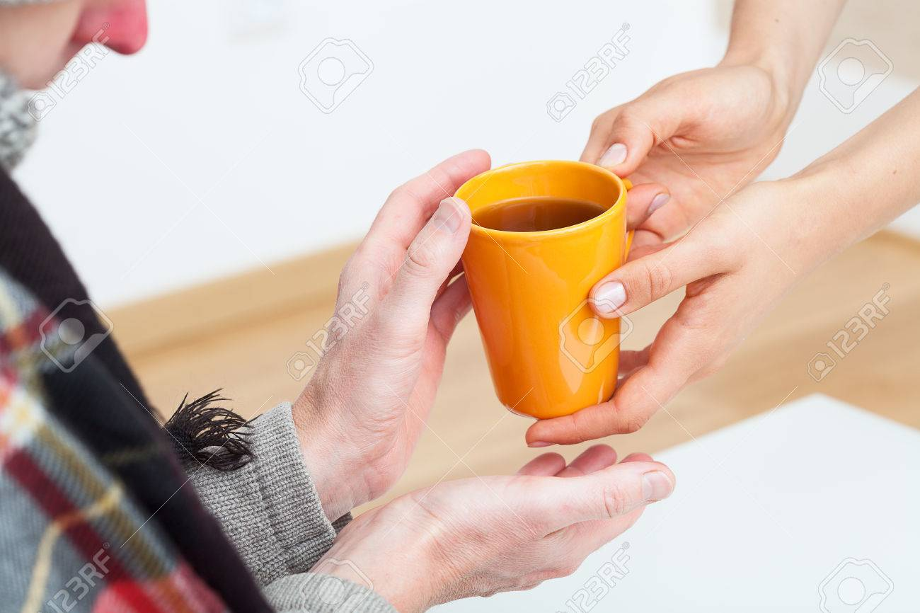 Helpful person is caring for sick partner Stock Photo - 23256345