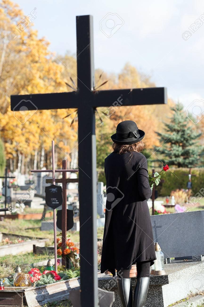 Cross as a symbol of catholic faith in post mortem life Stock Photo - 23256544