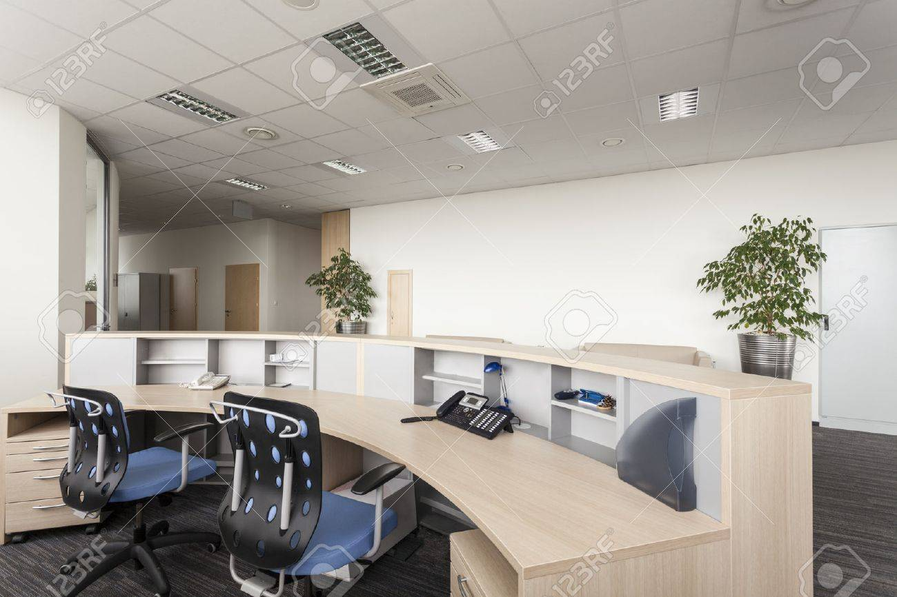 contemporary office reception. Reception Room Of A New Contemporary Office Stock Photo - 23699324