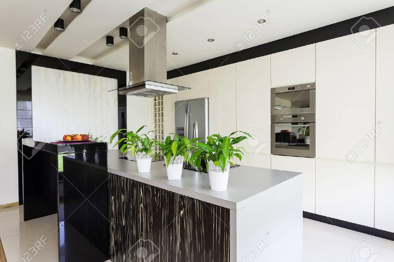 Urban Apartment - Modern Furniture In Bright Kitchen Interior Stock ...