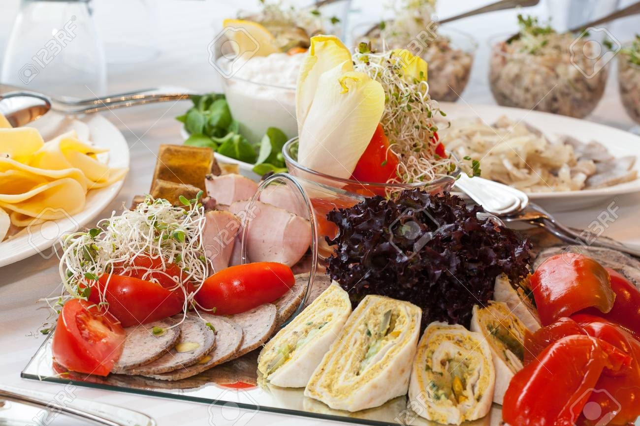 Healthy and fresh food on a glass plate Stock Photo - 24398782
