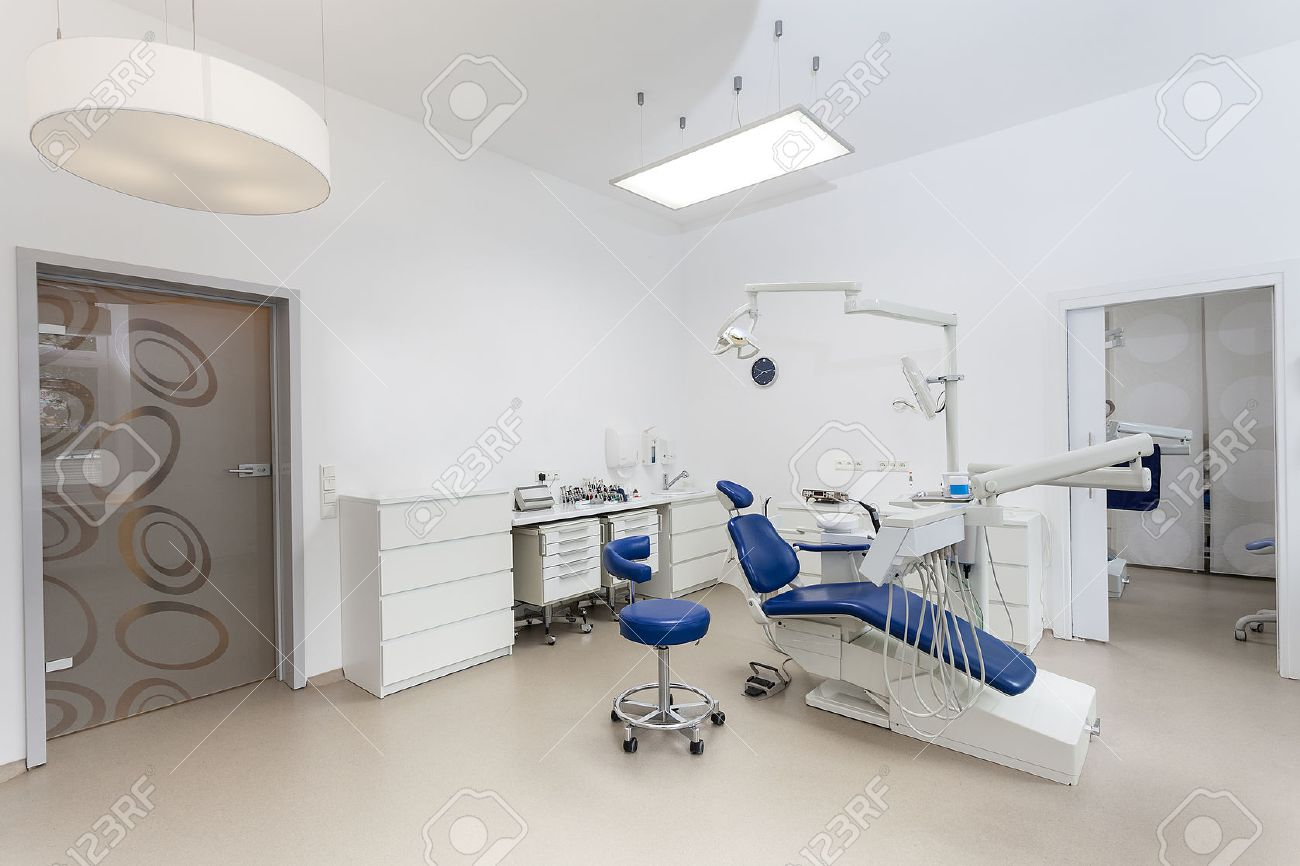 interior of a new modern dental office stock photo, picture and