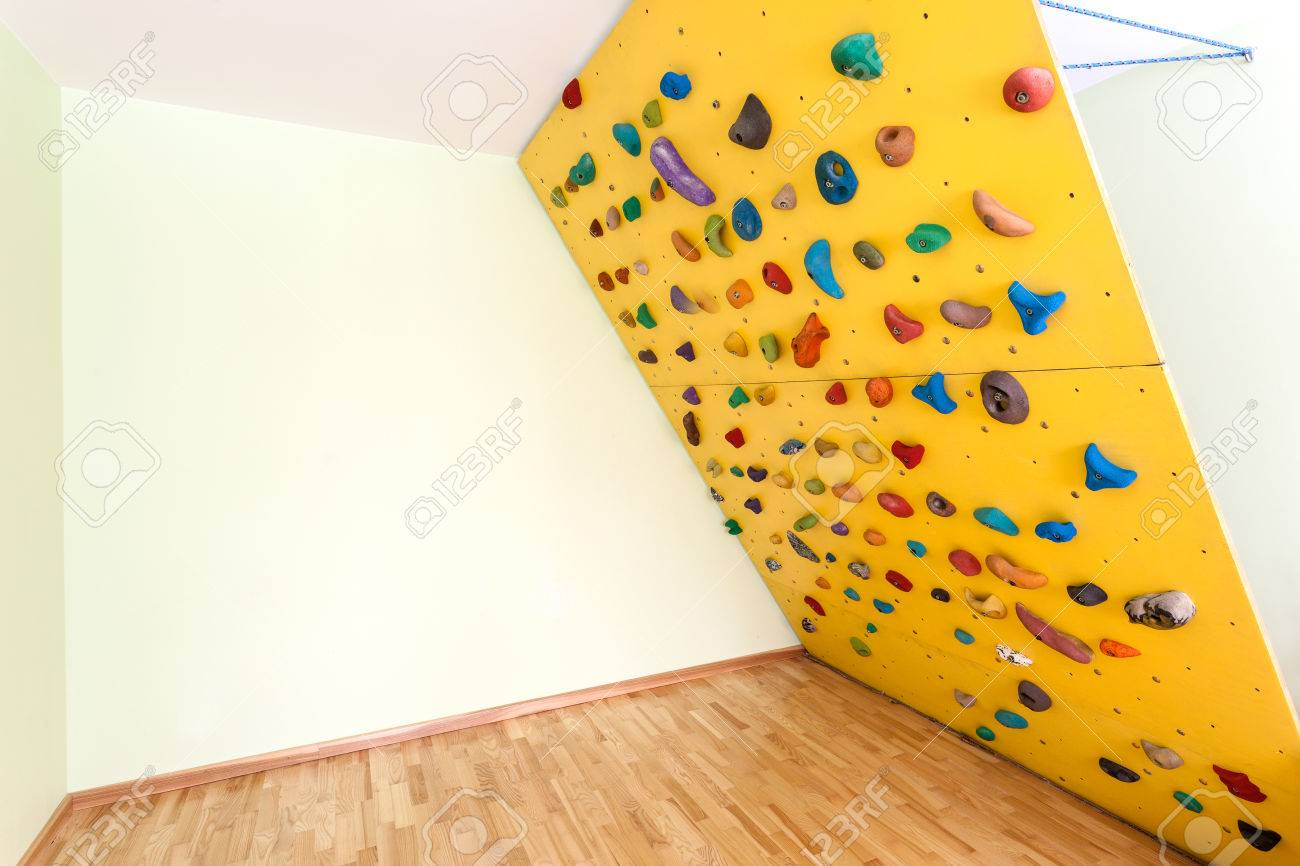 Oblique climbing wall at home as original way to sport Stock Photo - 25626927