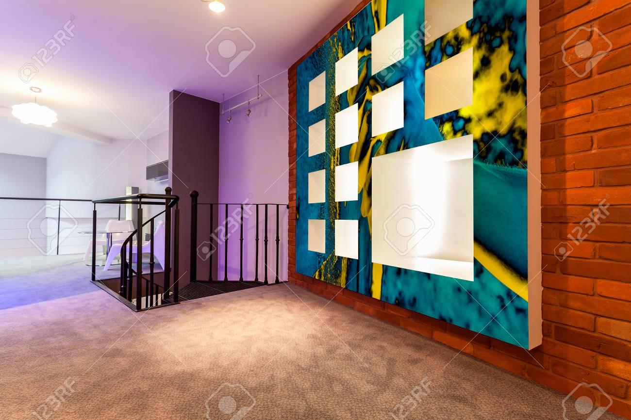Horizontal view of entresol in modern flat Stock Photo - 30492128