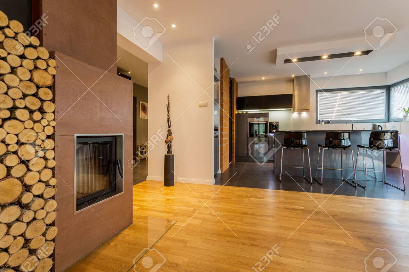 Stunning Cucina Con Caminetto Contemporary - Home Interior Ideas ...