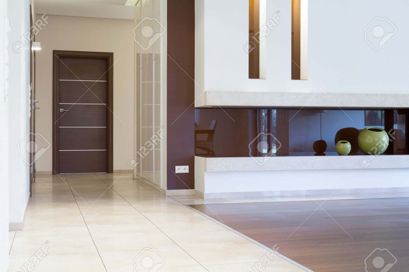 View Of Apartment Entrance Inside Modern Interior Stock Photo