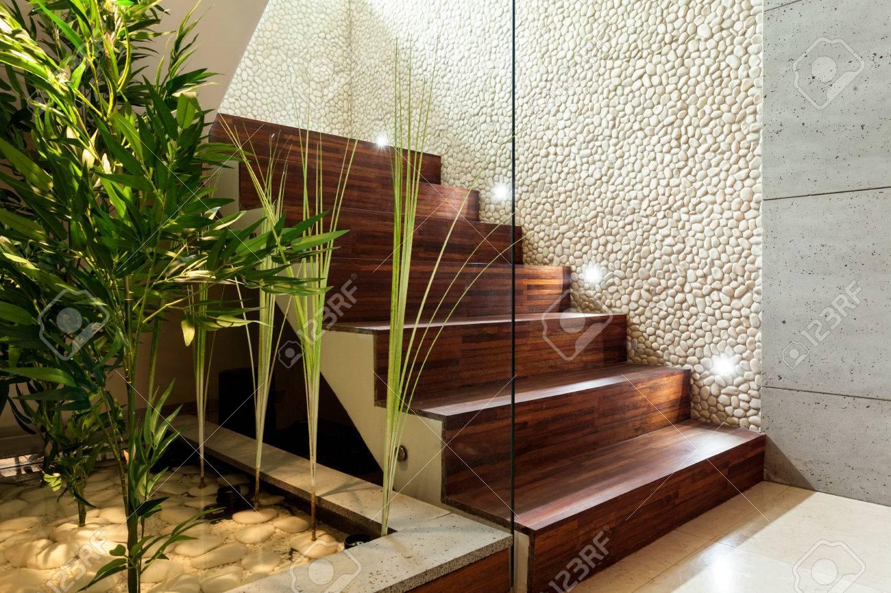 Escaleras Casas Modernas Cuadro En Lienzo Interior De La Casa