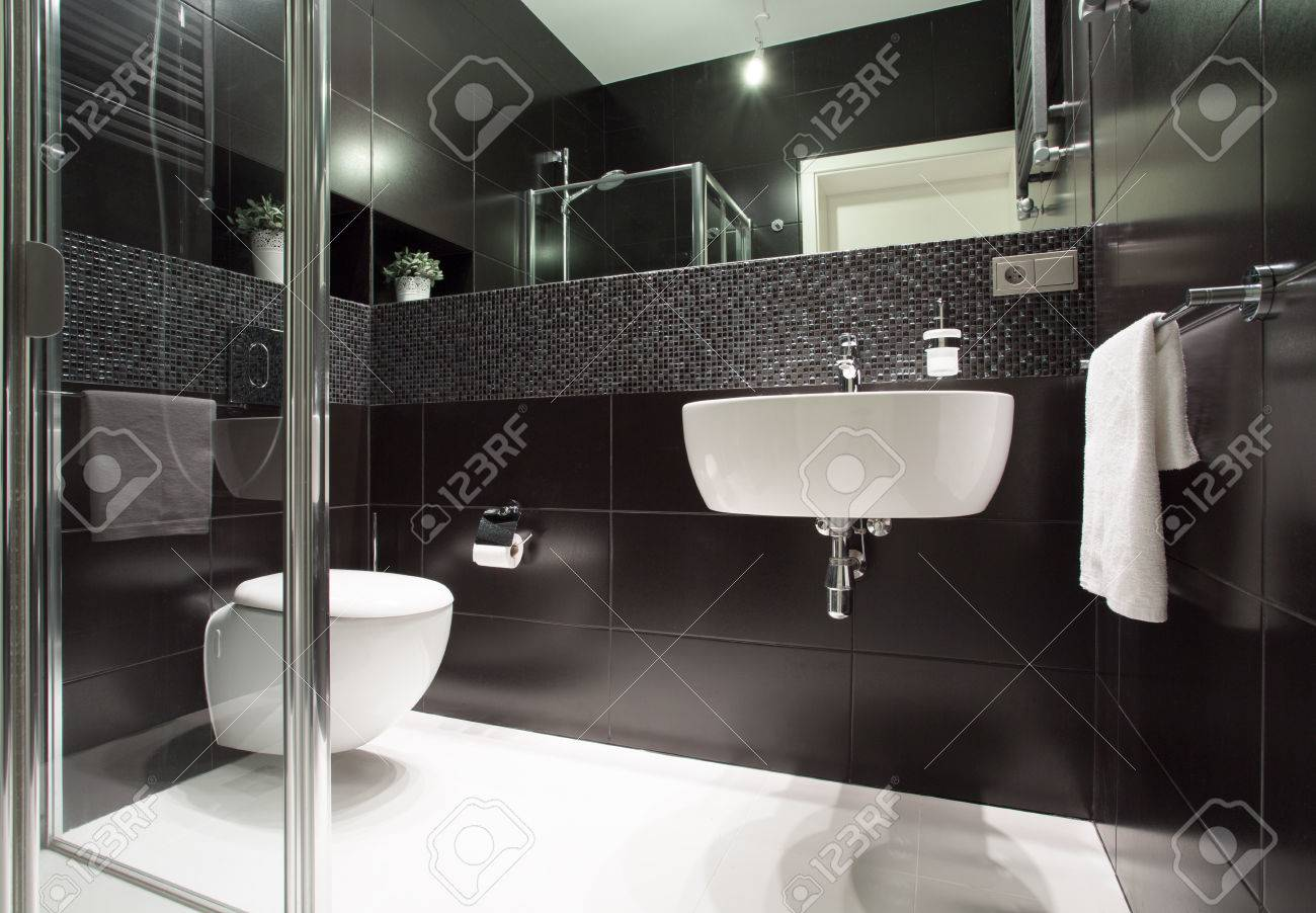 Luxury And Modern Bathroom In The Apartment Stock Photo   36957974